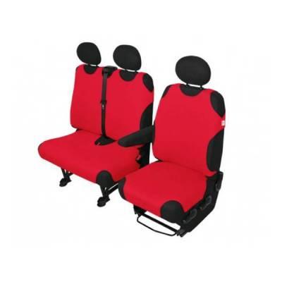 Potahy sedadel AUTOTRIKO pro VAN přední 1+2, červené